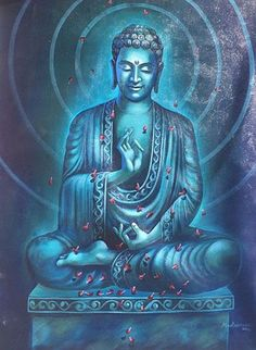 "Just Pinned to spiripual inspiration ascension enlightenment Elohim Angel God Buddha Tathagata Bodhisattva: ""Human behavior flows from three main sources: desire, emotion and knowledge. Lotus Buddha, Art Buddha, Buddha Artwork, Buddha Kunst, Buddha Zen, Buddha Painting, Gautama Buddha, Buddha Buddhism, Buddhist Art"