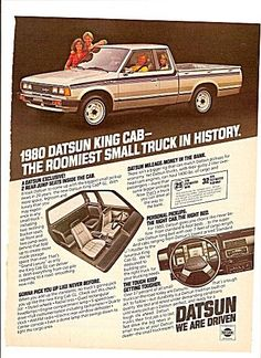 Nissan Add. Small Trucks, Mini Trucks, Retro Cars, Vintage Cars, Nissan Frontier 4x4, Datsun Car, Classic Japanese Cars, Nissan Trucks, Car Brochure