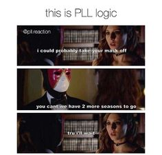 for much more PLL pins Pll Quotes, Pll Memes, Tv Show Quotes, Pll Logic, Pretty Little Liars Meme, I'm Still Here, Best Shows Ever, Jokes, Vampire Diaries