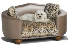 Hollywood Leopard Bed - Beds, Blankets & Furniture - Furniture Style Beds Posh Puppy Boutique