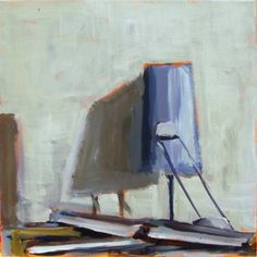 "Saatchi Art Artist Jan Valer; Painting, ""Still life #4 (lamp and books)"" #art"