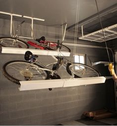 Garage organization ideas horizontal bike storage from your great bike storage racks for garage ceiling solutioingenieria Image collections