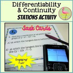 Calculus: Differentiability and Continuity Stations Activity Differential Calculus, Ap Calculus, Chain Rule, Smart Board Lessons, Ap Exams, P Power, College Board, Learning Objectives