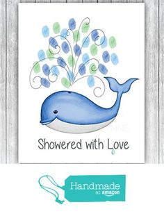 Whale Thumbprint Baby Shower Guest Book, Fine Art Print, Whale Baby Shower (Frame Not Included), Guest Thumbprints for Balloons from Melissa Wynne Designs https://www.amazon.com/dp/B01HLKKJJI/ref=hnd_sw_r_pi_dp_.aUGxbNTQ6HGV #handmadeatamazon