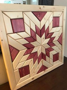 Finding Woodworking Patterns for All Your DIY Projects – The Woodworking Shop Reclaimed Wood Wall Art, Wooden Wall Art, Diy Wall Art, Wood Art, Wall Wood, Wood Wall Art Decor, Barn Quilt Designs, Barn Quilt Patterns, Woodworking Patterns