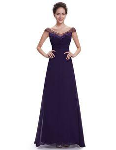 Amazon.com: Ever Pretty Off Shoulder Floor Length Evening Dress 08684: Clothing