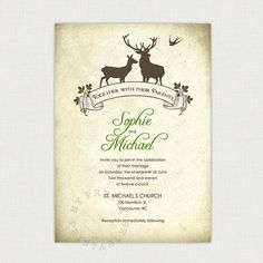 Hey, I found this really awesome Etsy listing at https://www.etsy.com/listing/108283927/woodland-vintage-invitation-you-print