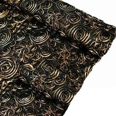 x 4 Yards Black/Gold Satin Tulle Fabric by the Bolt Gold Tulle, Satin Tulle, Tulle Fabric, Satin Fabric, Gold Wedding Decorations, Gold Wedding Theme, Fascinator, Headpiece, Satin