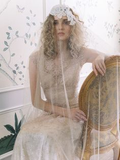 20 Ways to Wear a Veil With Your Wedding Hairstyle - Whether you're sporting a formal updo or long, loose waves, here's the lowdown on wedding hairstyles with veils. {Michael & Carina Photography} Mon Cheri Wedding Dresses, 2015 Wedding Dresses, Bridal Dresses, Gown Wedding, Wedding Blog, Wedding Ideas, Claire Pettibone, Amazing Wedding Dress, Sophisticated Bride