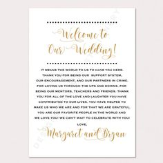 These Wedding Welcome Letters are personalized and perfect to put into your wedding welcome bags for your out of town guests. They can also be placed on your tables at the reception.  ✿TURN AROUND TIMES✿ *Orders cannot be rushed. Please allow at least 2 1/2 weeks from the day your order is placed to the day you receive your kits. Full turn around details are listed in the process below. *If you need to re-order additional items from a previous order, we will skip the design phase and your…