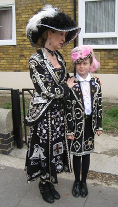 Pearly Kings & Queens - the next generation!  Photographed by Gillian Horsup.