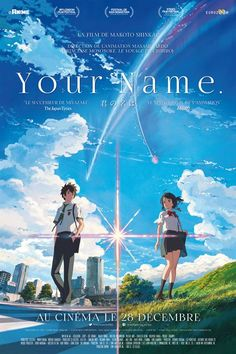 "Your Name (She cried, Iva) (Is great too! Helena) (Omg, just watch this anime movie, ""Your Name (Kimi no Na wa. You should totally watch it! Watch Your Name, Your Name Movie, Your Name Anime, Kimi No Na Wa, Hayao Miyazaki, Studio Ghibli, Your Name 2016, Mitsuha And Taki, Film Animation Japonais"