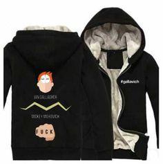 Shameless thick fleece hoodie for men mickey milkovich sweatshirts black Zip Up Hoodies, Hooded Sweatshirts, Black Zip Ups, Fleece Hoodie, Adidas Jacket, Fans, Plus Size, How To Wear, Jackets