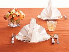 thanksgiving napkin folding - Google Search