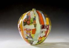 Blown glass vase by Hokanson & Dix at Lustre