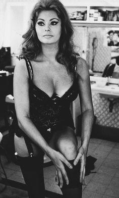 "Photographed on set of ""Ieri, oggi, domani"" in 1963."
