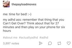 ADHD culture is looking through an ADHD post but only reading half the ADHD post. Infp, Adhd Funny, Adhd Humor, Adhd Brain, Adult Adhd, Adhd And Autism, Mental Disorders, Funny Relatable Memes, Relatable Posts
