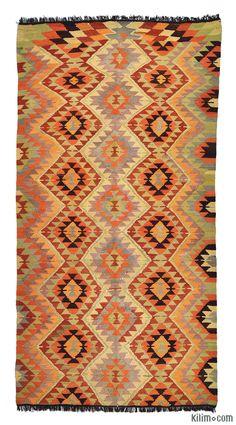 Vintage Afyon Kilim - K0005721 - Finest Kilims and Turkish Area Rugs
