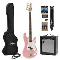 Gear4Music LA Bass Guitar   25W Amp Pack Pink Our LA Bass Guitar   25W Amp Pack features the LA Bass Guitar in a Gloss Pink finish and our 25W Bass Amplifier and comes bundled with several useful accessories including a guitar lead padded bass gu http://www.comparestoreprices.co.uk/bass-guitars/gear4music-la-bass-guitar- -25w-amp-pack-pink.asp