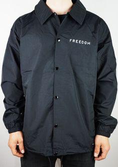 Freedom Label Coaches Jacket Black Medium-CLJAFRLBLBLK_M Skateboard, Black Media, Coaches, Chef Jackets, Freedom, Label, Medium, Fashion, Jackets