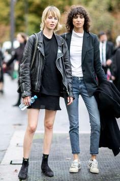 #EdieCampbell & #MicaArganarez keeping cool #Offduty in Paris.