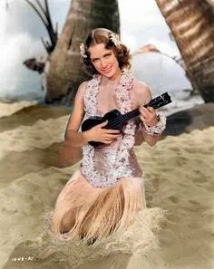 Vintage Ukulele People, Colorized | Noon Sun Books Colorized History, Colorized Photos, Steve Smith, White Image, Famous Faces, Ukulele, Vintage Images, Vintage Black, Flower Girl Dresses