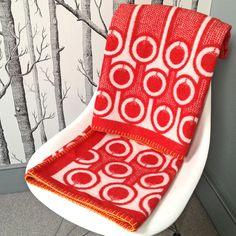 Woven Lambswool blanket - tomatoes pattern - Hokolo