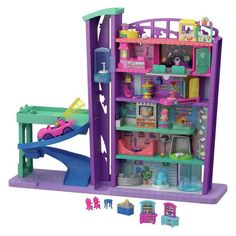 Come hang out at the Polly Pocket Pollyville Mega Mall featuring 6 floors of shopping fun. Explore more Polly Pocket playsets at our Mattel Shop today! Shopkins Small Mart, Toys For Girls, Kids Toys, Mega Shopping, Ri Happy, Mattel Shop, Centre Commercial, Pet Store, Craft Fair Displays