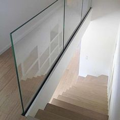 Glass railing with solid aluminum base – Yurihomes Frosted Glass, Clear Glass, Channel Glass, Frameless Glass Balustrade, Steel Shoes, Glass And Aluminium, Import From China, Laminated Glass, Modern Stairs