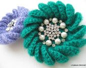 Crochet PATTERN - Crochet Brooch Tutorial - Mohair Pattern - Unique Crochet Pattern - Instant Download - Lyubava Crochet Pattern 33
