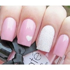 50 Lovely Pink and White Nail Art Designs ❤ liked on Polyvore featuring beauty products, nail care, nail treatments, nails, makeup and beauty