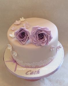 Roses and lace birthday cake