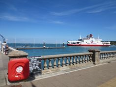 Red Funnel Isle of Wight ferry passing Cowes