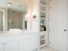 Open bathroom closet