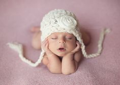Baby Girl Hat Newborn Baby Girl Crochet Hat in Off by EcoStreet, $29.00