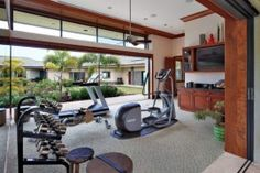 Like this open air gym idea babe (esp. the garage style door)!!