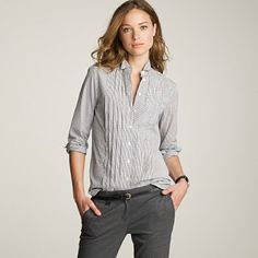 I totally have a thing for that whole 'borrowed the style from him.'  J. Crew, $150