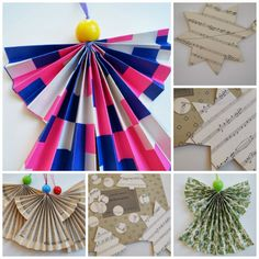 Christmas Decoration made from old paper sheets. Upcycle it!!