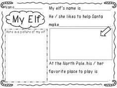 My Elf...a Christmas writing activity