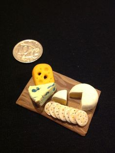 1/12 scale dollhouse polymer clay cheese platter