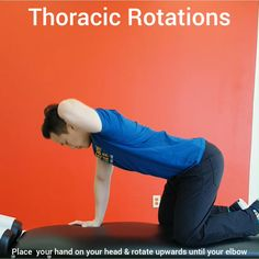 Mobility Exercises to improve thoracic spine rotation. Check out this link for 90 back exercises Posture Exercises, Back Pain Exercises, Zumba Workout Videos, Workouts, Strength And Conditioning Coach, Yoga For Flexibility, Physical Therapy, Improve Posture, Workout Programs