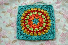 """""""Granny Circle to Square"""" by AnnieDesign...great color combination!"""
