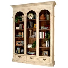 Features a beadboard interior back, 12 adjustable shelves, and 3 drawers with wooden drawer glides. Furniture Projects, Furniture Making, Diy Furniture, Regency Furniture, Office Furniture, Painted Furniture, Cafe Interior Design, French Interior, Cheap Furniture Online