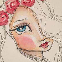 More epic pen and watercolor joyful practice