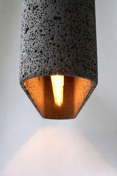 Lampa decorativa din roca vulcanica 4