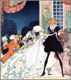 """In Powder and Crinoline - The Twelve Dancing Princesses; """"Don't drink!"""" cried out the little Princess, springing to her feet; """"I would rather marry a gardener!"""""""