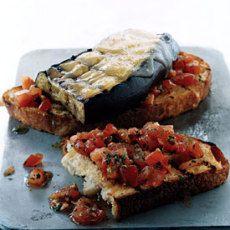 Eggplant and Smoked-Gouda Open-Faced Grilled Sandwiches Recipe  on FARINATA focaccia