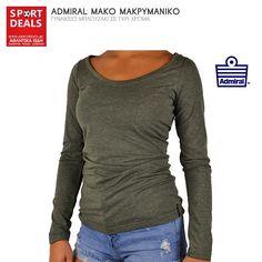 1b87487636 Admiral μακο μακρυμανικο γυναικειο μπλουζακι γκρι