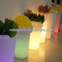 Led Fluorescent Flower Pots/fancy Plastic Flower Pots Wholesale Large Led Flower…