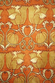 ¤ Charles Voysey - Decorative fabric (1888)